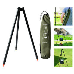Adjustable Grill Camping Tripod Cooking Campfire Bbq Backpacking Cookware