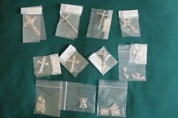 Rosary Making Centerpieces And Silver Finish Crucifix Italy Lot Free Jump Rings