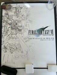 Final Fantasy 7 Promotional Advertisement Poster Playstation One