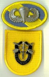 1st Special Forces Group - Type I 1961-63 Beret Flash Di / Crest Oval Wings