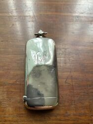 Antique Silver Vesta Case With Match Strike And Sovereign Holder