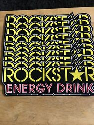 10authentic New Rockstar Energy Drink Stickers/sign / Decal Star Bmx Motocross