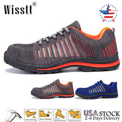 Mens Indestructible Steel Toe Safety Shoes Labor Mesh Sports Boots Work Sneakers