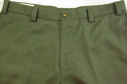 Gorgeous Vintage Orvis 100 Twill Wool Olive Flat Front Pants 36x31