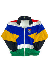 South African Airways 90s Vintage Flag Nylon Track Athletic Jacket Size L
