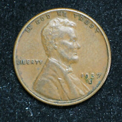 1937 S Lincoln Wheat Cent  Vf+  Item 1302