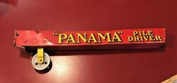 Antique Wolverine Panama Pile Driver Marble Toy Tin Mechanical Game 1914 Part