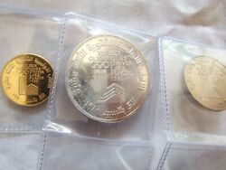 One Of The Rarest Olympic Coins-1980 Lebanon 400 Livre Gold-included In Set.