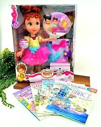 Lot Of Fancy Nancy Shall We Be Fancy Interactive Doll And 5 I Can Read Books New