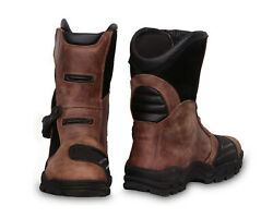 Adventure Mid Waterproof Motorcycle Boots Touring Real Leather Mohan Industries