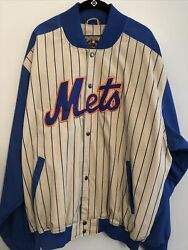 Ny Mets 1969 World Series Champions Pinstripe Jacket Xxl Cooperstown Majestic