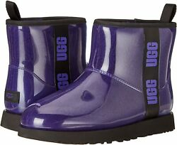 Womenand039s Shoes Ugg Classic Clear Mini Waterproof Ankle Boots 1113190 Violet Night