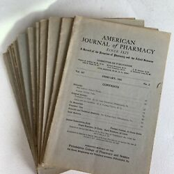 Vintage American Journal Of Pharmacy 1930's Lot Of 16 Magazines