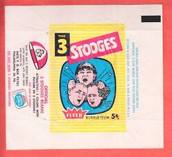 1959 Fleer Three Stooges 5 Cents Wrapper Ex