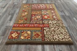 Pottery Barn Tile Collage Handmade Wool Area Rug 5and039 X 8and039