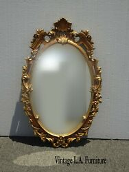 32tall Vintage French Provincial Ornate Gold Syroco Style Wall Mantle Mirror