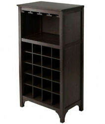 Ancona Modular Wine Cabinet With Glass Rack And 20-bottle