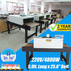 220v T-shirt Conveyor Tunnel Dryer For Screen Printing 5.9ft X 25.6and039and039 Belt