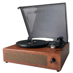 Retro Record Player 33/45/78rpm Gramophone Usb Turntable Disc Household N6d7