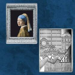 Frankreich - Girl With A Pearl Earring Vermeer - 250 Euro 2021 Silber - Pp