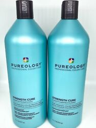 Same Day Ship Pureology- Strength Cure Shampoo And Conditioner 33.8oz