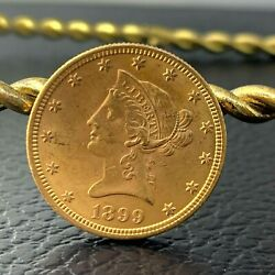 Us Ms Liberty Head 10 Gold Coin 1899