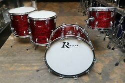 Rogers 4pc Drum Set Red Onyx Vintage 1960and039s