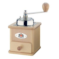 Beechwood Manual Coffee Mill Adjustable Removable Drawer Steel New