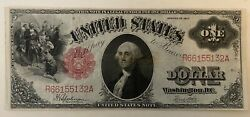 1917 1 One Dollar Us Note Legal Tender Large Size Note Bill Currency