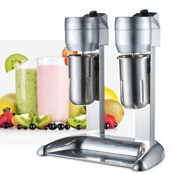 Double Head Milk Shake Machine Stainless Steel Drink Mixer Juicers 300w 110v Usa