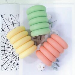 Geometric Cylinder Candle Mold Oval Stem Pillar Sphere Nordic Wax Crafts Mould