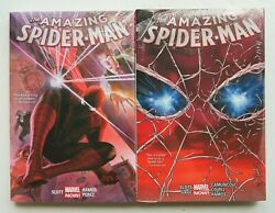 Amazing Spider-man Vol. 1 And 2 Hc Marvel Now Graphic Novel Comic Book Lot Of 2
