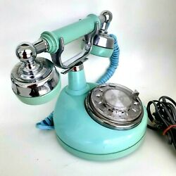 Vintage Teal Rotary Dial Phone Bell Telephone Electric Southern Bell Green Blue