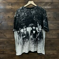 Vintage 1990s 90s The Beatles All Over Printed Band Tshirt Mens Xl