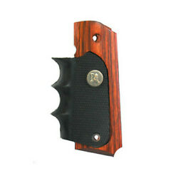 Pachmayr 1911 Grip-wood Grip Panels W/rubber Finger Grooves-423