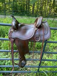 """Circle Y Park And Trail Saddle, Beautiful Condition, 15"""" Seat, Qh Bars 5.5"""""""