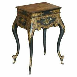 Georgian Antique Circa 1800 George Iii Chinese Lacquer And Gold Gilt Work Table