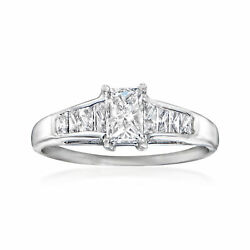 C. 1980 Vintage 1.02 Ct. T.w. Diamond Ring In 14kt White Gold. Size 7