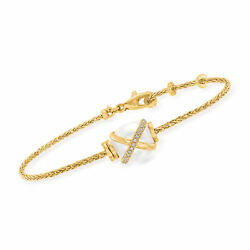 Fred Baie Des Anges 10x9mm Cultured Pearl And Diamond Bracelet In 18kt Gold 6
