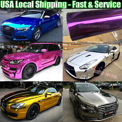 Glossy Chrome Vinyl For Whole Car Vehicle Wrap Covering Foil Graphics Film Decal