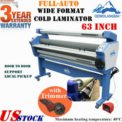 Us 63 Full-auto Large Format Cold Laminator Machine Heat Assisted + Trimmer