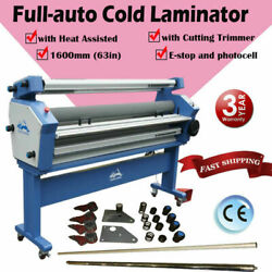 Us 63in Automatic Cold Laminator Wide Laminating Machine With Cutting Trimmer