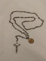 Vintage Sterling Silver Creed Rosary Beads No. Attleboro Mass.