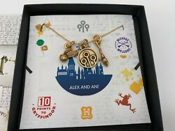 New Alex And Ani Harry Potter Quidditch Charm Necklace Expandable Gold Nwt And Box