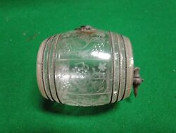 Miniature Crystal Barrel, Very Rare Engraved Crystal Enamelled Mounts, Wire Work