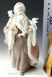 Lladro Large Figurine Father Christmas Spirit Off Nature 1890 Limited Ed. Box