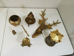 Assorted Vintage Brass Items