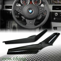 Fit For Bmw E60 5-series M5 Steering Wheel Cover Trim Interior Dry Carbon
