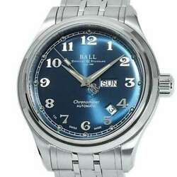 Free Shipping Pre-owned Ball Watch Train Master Cleveland Nm1058d-scj-be