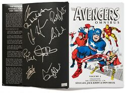 Avengers Movie Signed Book By Cast And Stan Lee Celeb Coa
